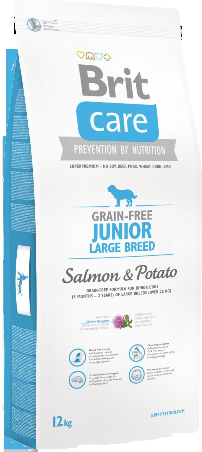 BRIT Care dog Grain free Junior Large Breed Salmon & Potato 12 kg