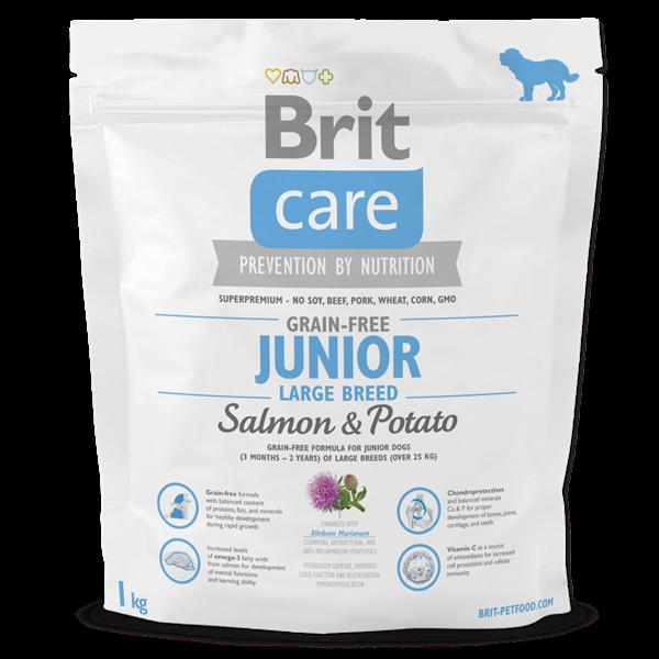 BRIT Care dog Grain free Junior Large Breed Salmon & Potato 1 kg