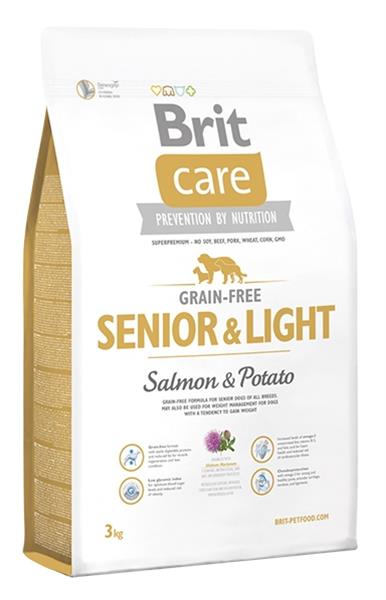 BRIT Care dog Grain free Senior & Light Salmon & Potato 3 kg