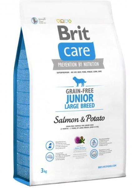 BRIT Care dog Grain free Junior Large Breed Salmon & Potato 3 kg