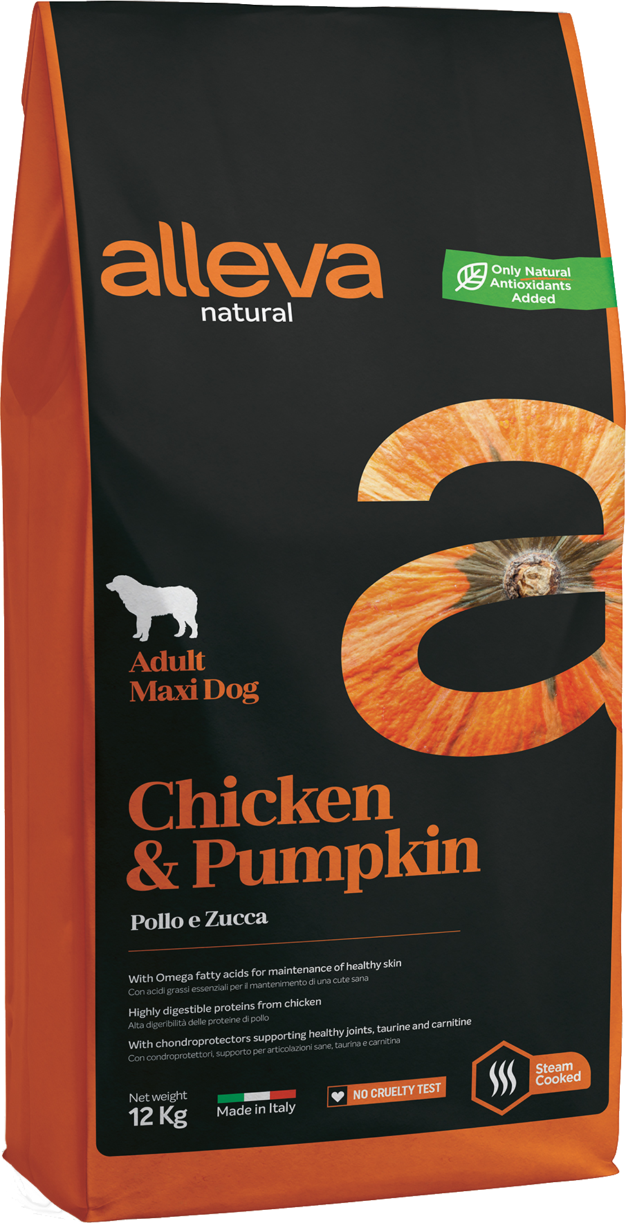 Alleva NATURAL dog chicken&pumpkin adult maxi 12 kg