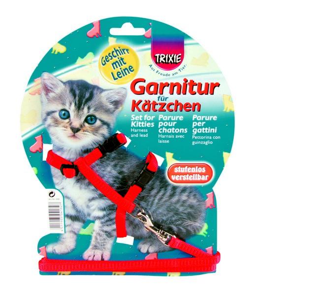 Trixie postroj s vodítkom pre mačiatka Kitten size 19-31 cm/1,2m