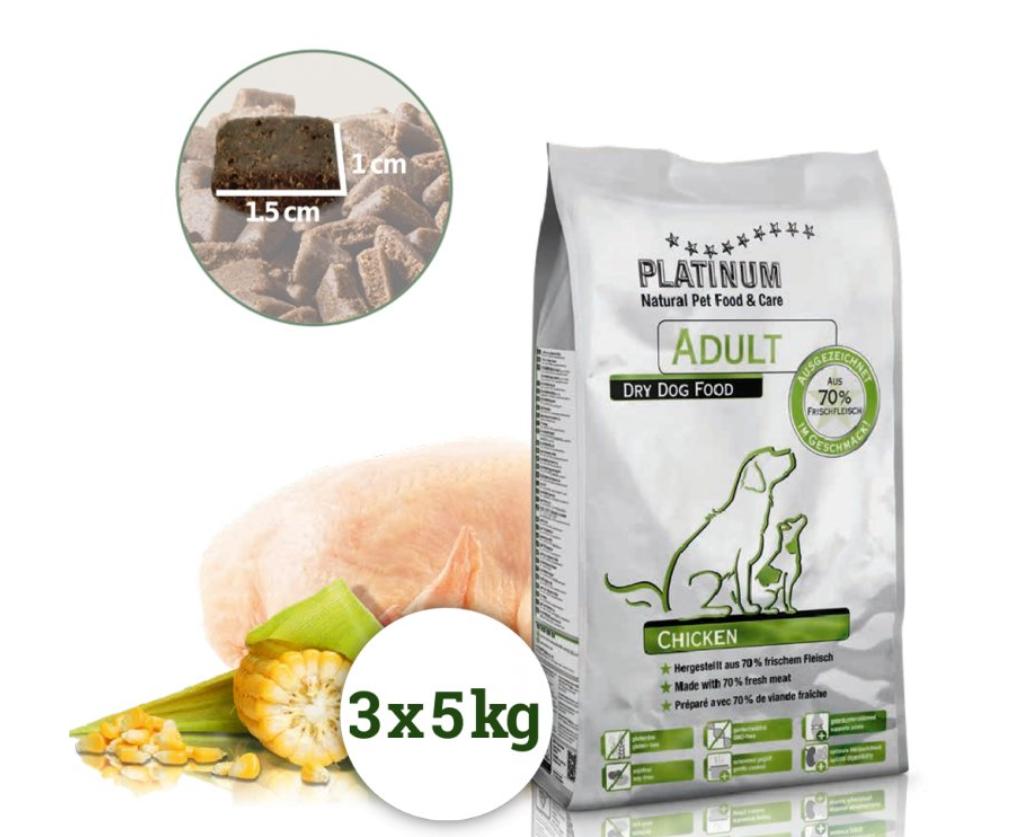 Platinum Natural Adult Chicken 15 kg(3x5Kg)