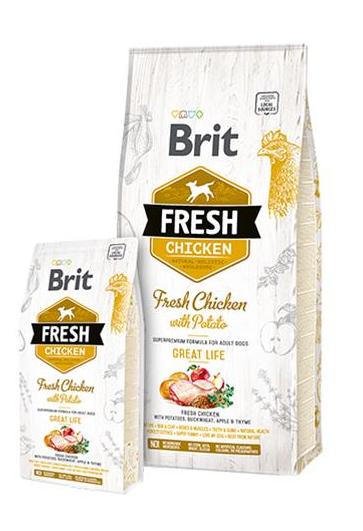 BRIT Fresh Adult Great Life kura so zemiakom 12 kg