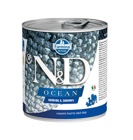 Farmina N&D dog OCEAN Herring & Shripms konzerva 285 g