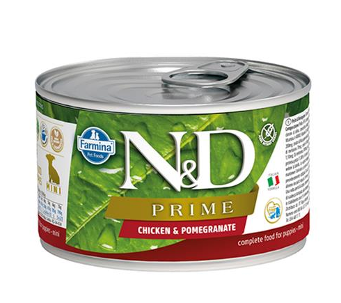 Farmina N&D dog PRIME Chicken & Pomegranate Puppy konzerva 140 g