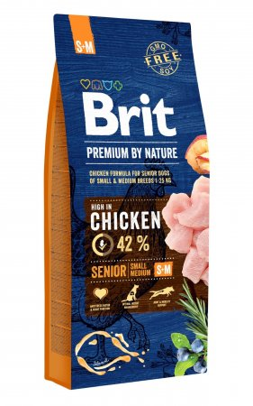 Brit Premium by Nature dog Senior S+ M 3 kg