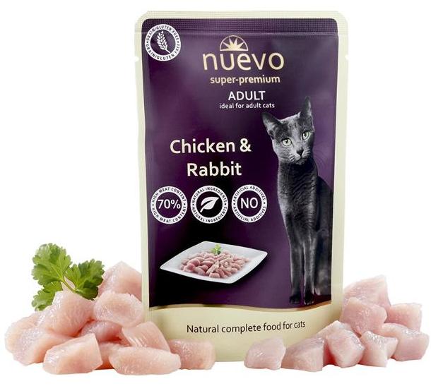 NUEVO cat Adult Chicken & Rabbit 85 g kapsičky