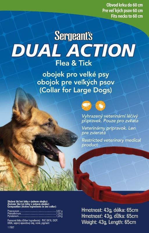 Sergeant´s Antiparazitný obojok pre veľké psy - 65cm