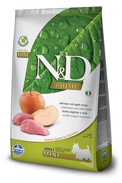 N&D dog PRIME (GF) adult mini boar&pple 2,5 kg