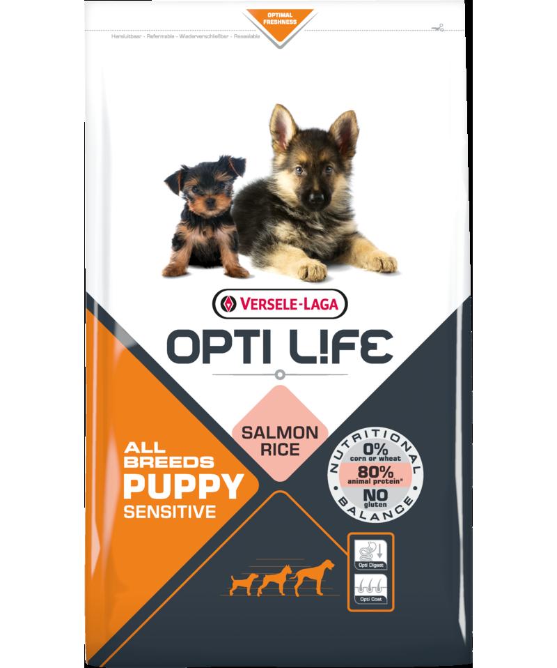 Versele-Laga Opti Life Puppy Sensitive All Breeds 12,5kg +Kontajner zdarma