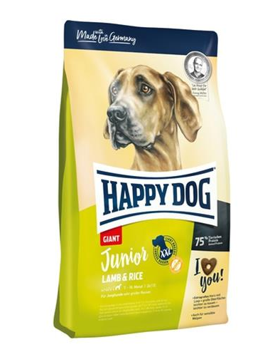 Happy Dog Supreme Young Junior Giant Lamb & Rice 15 kg
