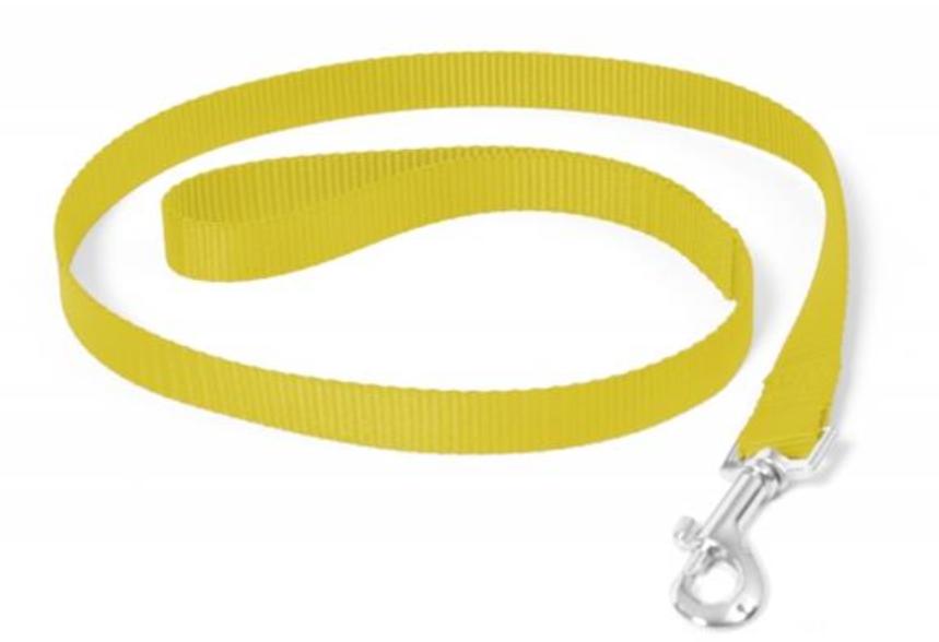 Vodítko DUVO+ Nylon 120 cm/15 mm - Žlté