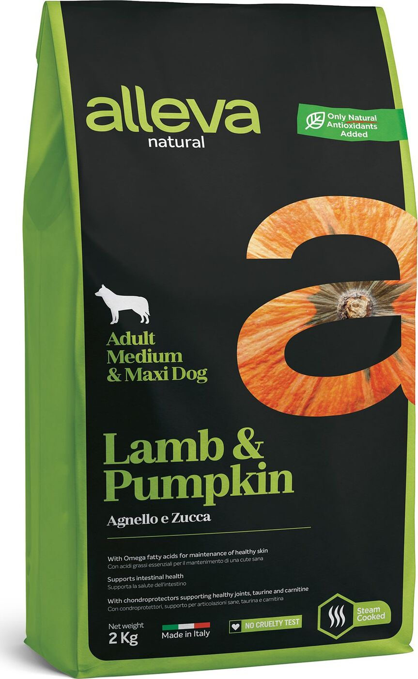 Alleva NATURAL dog lamb&pumpkin adult medium/maxi 12 kg