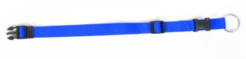 Obojok DUVO+ Nastaviteľný nylon 40-65 cm/ 25 mm - Modrý