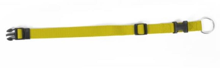 Obojok DUVO+ Nastaviteľný nylon 40-65 cm/ 25 mm - Žltý