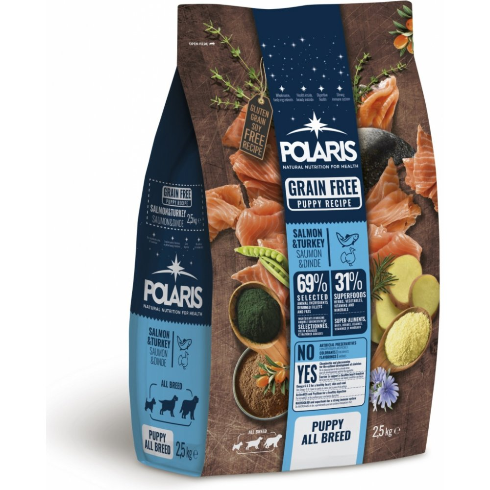 POLARIS GF Puppy Salmon & Turkey 2,5kg