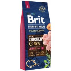 Brit Premium by Nature dog Junior L 15 kg