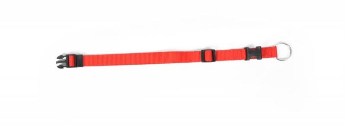 Obojok DUVO+ Nastaviteľný nylon 40-65 cm/ 25 mm - Červený