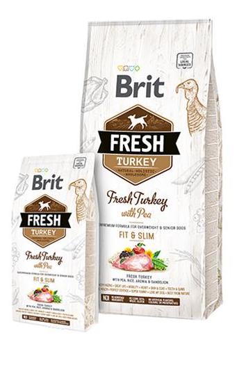 BRIT Fresh Light Fit & Slim morčacie s hráškom 12 kg