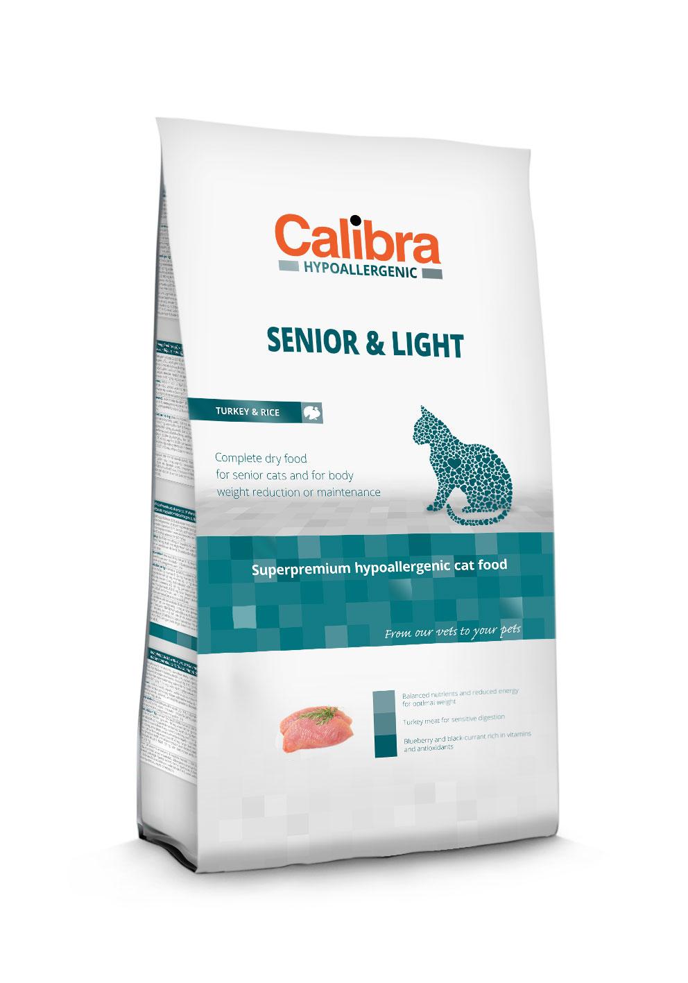 Calibra Cat Hypoallergenic Senior & Light / Turkey & Rice 2 Kg