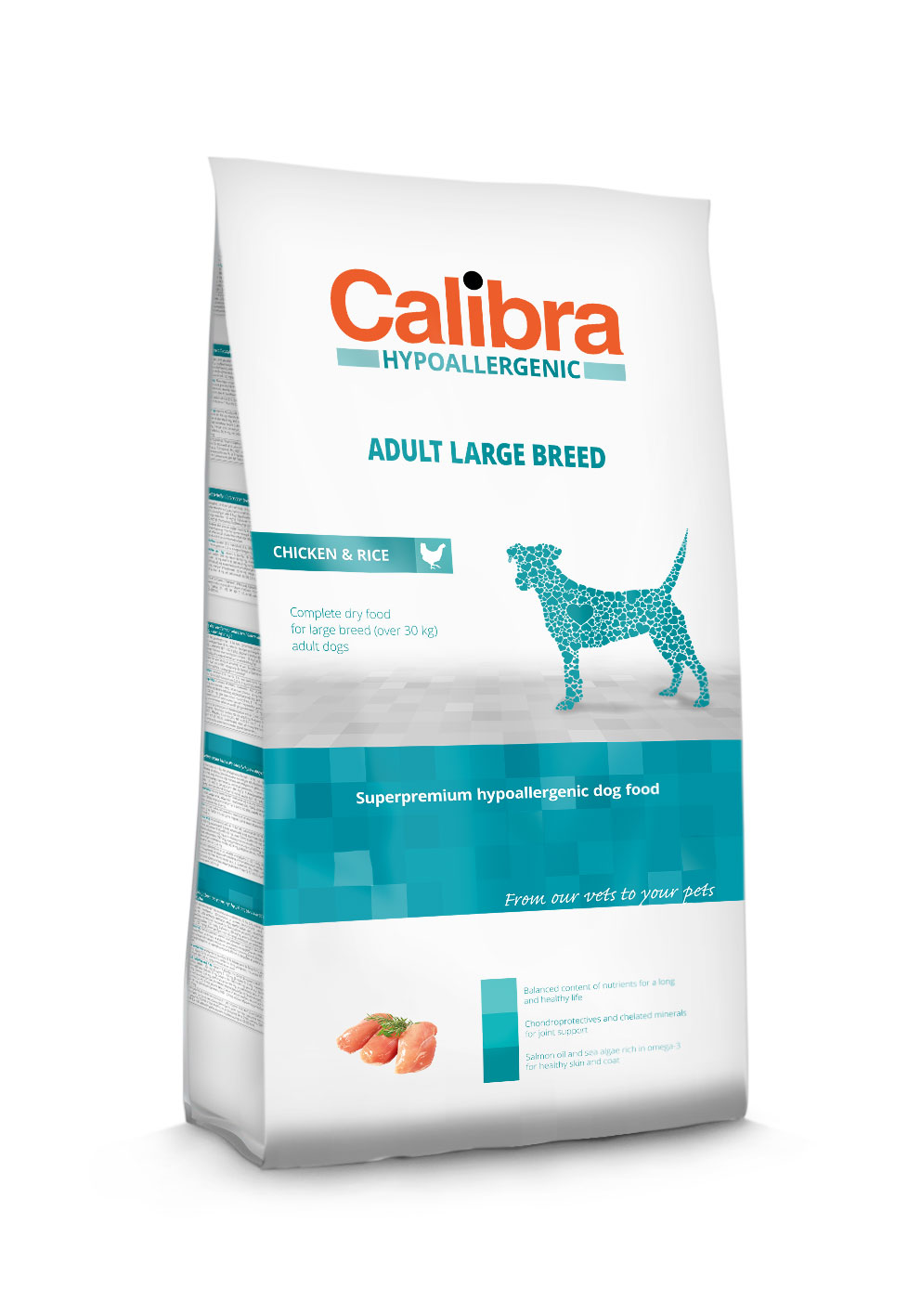 Calibra Dog Hypoallergenic Adult Large Breed / Chicken & Rice 3 Kg
