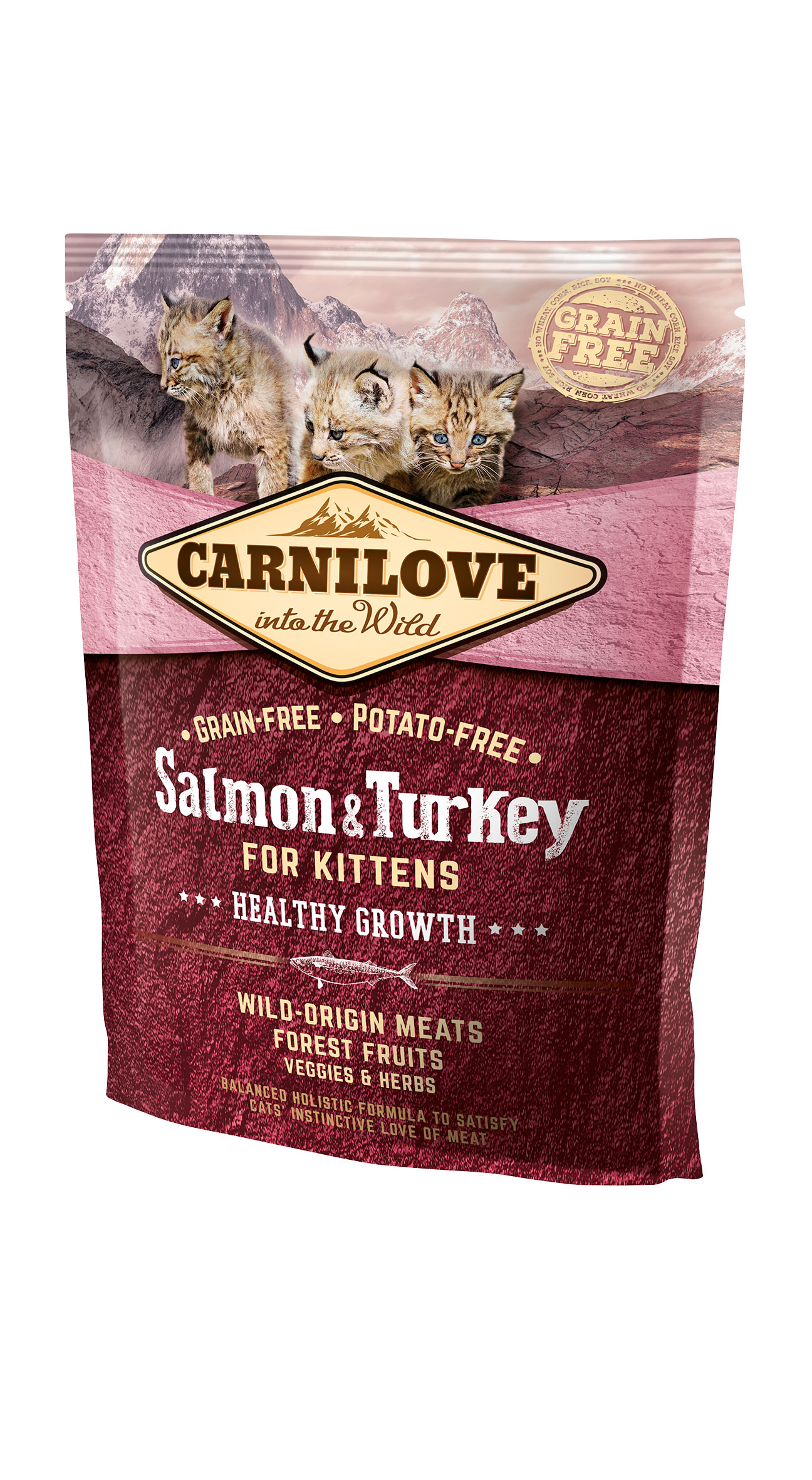 Carnilove Salmon & Turkey for Kittens – Healthy Growth 2kg
