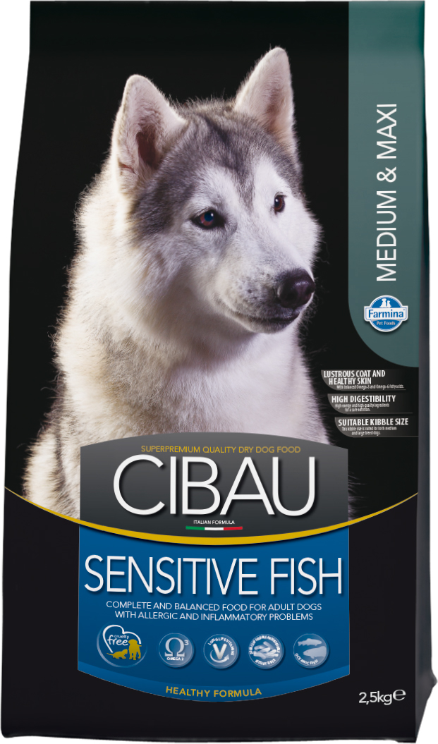 CIBAU dog adult sensitive fish medium & maxi 2,5kg