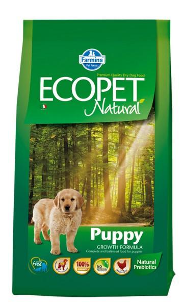Ecopet Natural Puppy medium 12 +2kg ZDARMA