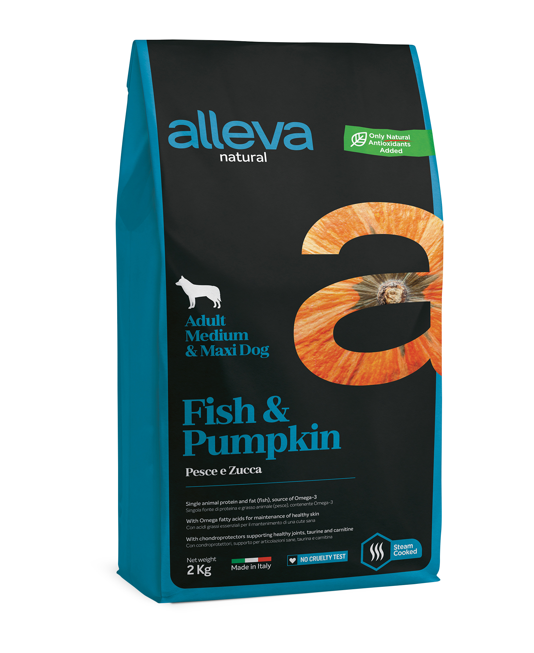 Alleva NATURAL dog fish&pumpkin adult medium/maxi 12 kg