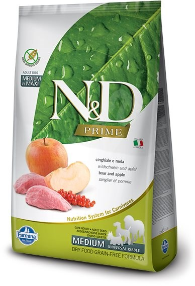 N&D dog PRIME (GF) Adult Medium & Maxi Wild Boar & apple 12 kg