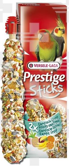 VL Prestige Sticks Parrots Exotic Fruit 2 ks- tyčinky pre veľké papagáje s ovocím 140 g