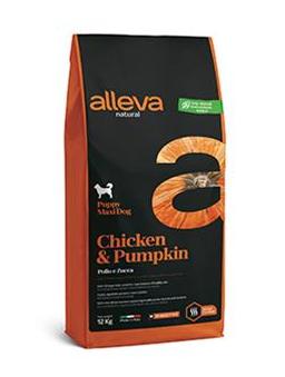 Alleva NATURAL dog chicken&pumpkin puppy maxi 12 kg