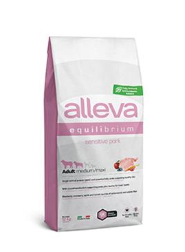 Alleva SP EQUILIBRIUM dog sensitive pork adult medium/maxi 12 kg