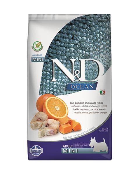 N&D dog OCEAN PUMPKIN adult mini codfish & orange 2,5 kg