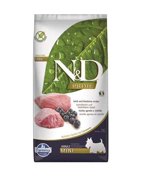 N&D dog PRIME (GF) adult mini lamb&blueberry 7 kg