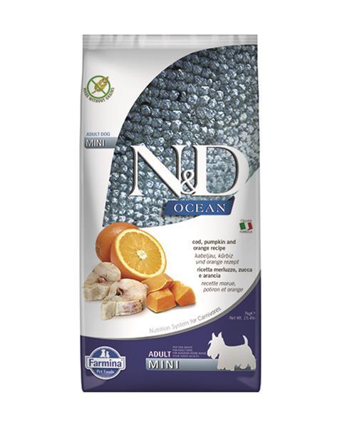 N&D dog OCEAN PUMPKIN adult mini codfish & orange 7 kg