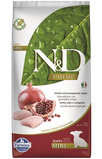 N&D dog PRIME (GF) puppy mini & medium, chicken & pomegranate 7 kg
