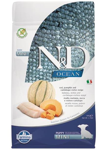 N&D dog OCEAN PUMPKIN (GF) puppy mini, cod & cantaloupe melon 2,5 kg