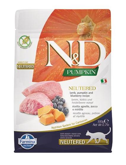 N&D cat PUMPKIN (GF) adult, neutered, lamb & blueberry 1,5 kg