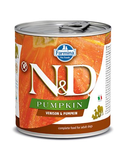 N&D dog PUMPKIN & venison konzerva 285 g