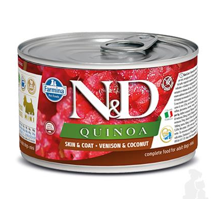 N&D dog QUINOA venison & coconut konzerva 140 g