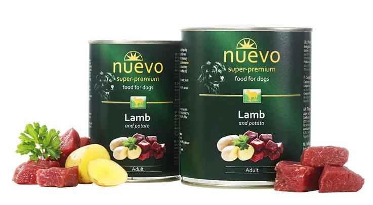 Nuevo dog Adult Lamb & Potato 400 g konzerva