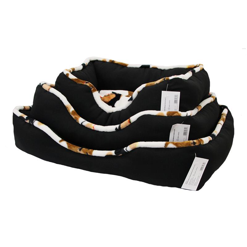Pelech pre psov a mačky čierný M 55x40x16 cm