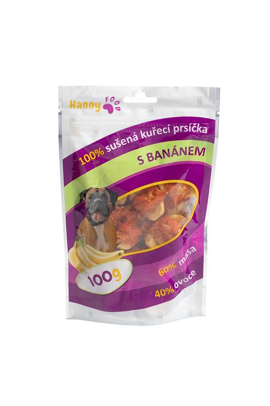 Hanny Food Sušené kuracie prsia s banánom 100g
