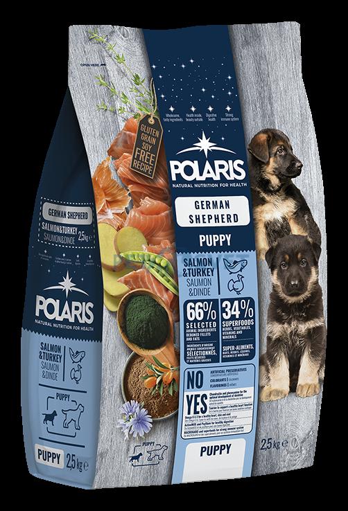 POLARIS dog German Sheperd Puppy Salmon & Turkey 2,5kg