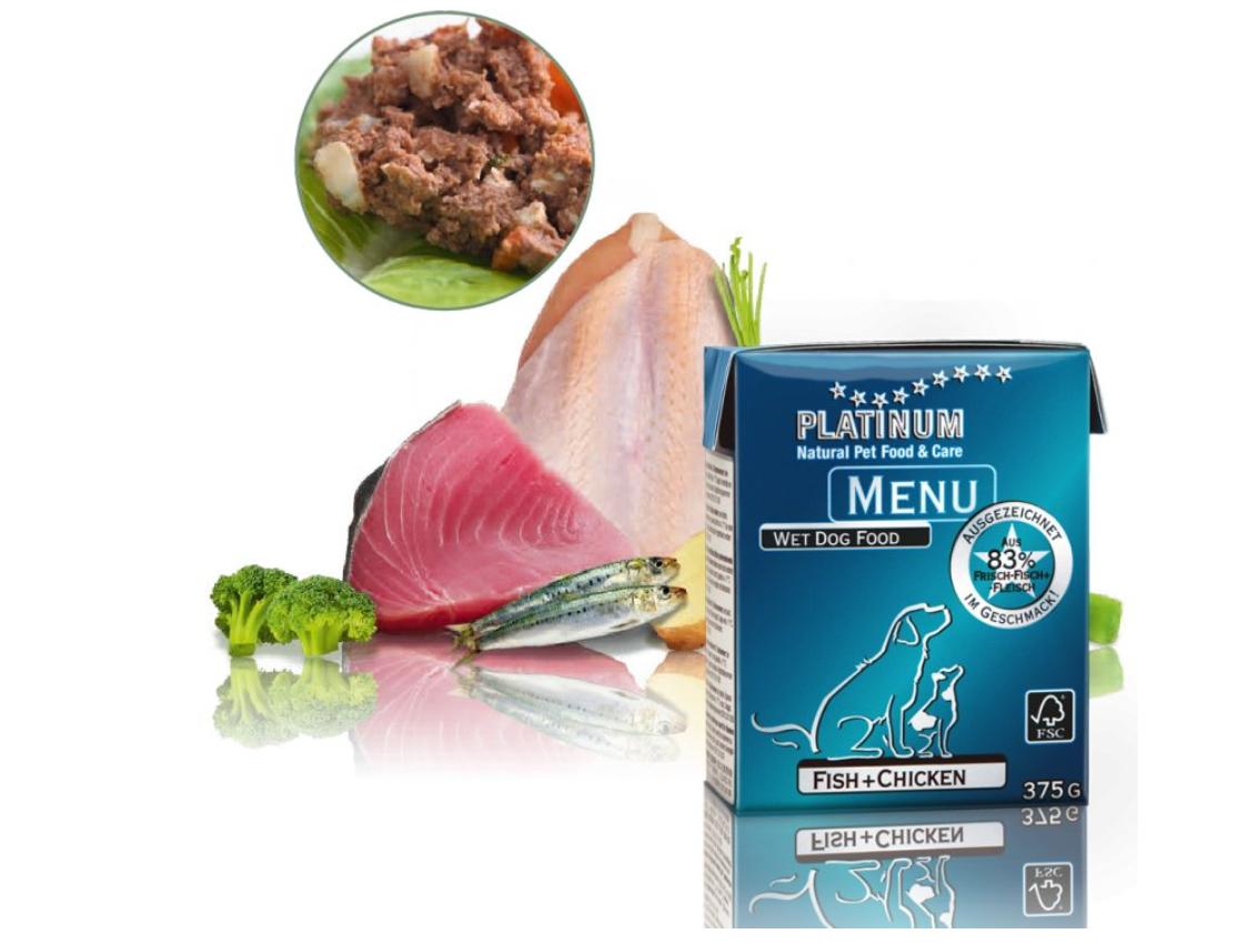 Platinum Natural Menu Kuře & Mořské ryby 375 g