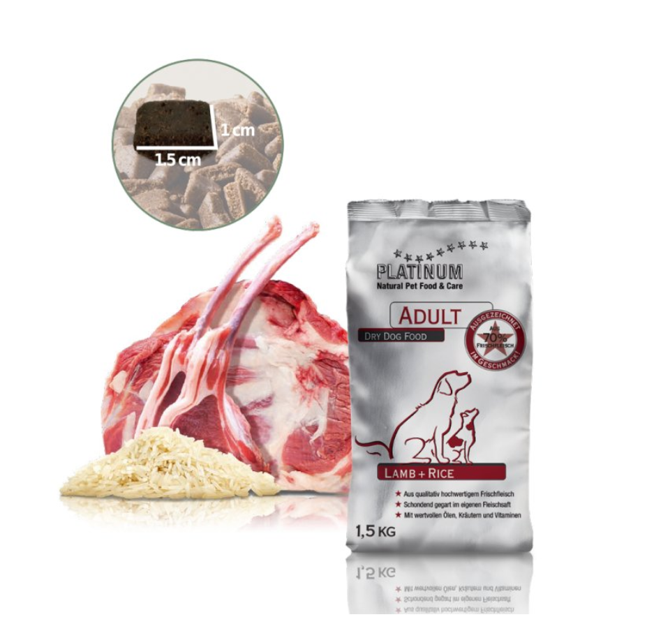 Platinum Natural Adult Lamb & Rice 1,5 kg