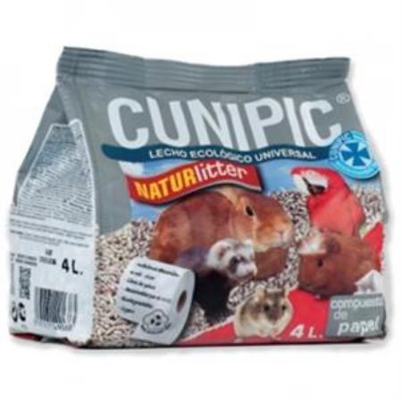 Podstielka CUNIPIC Naturlitter Papier pre hlodavce a vtáky 4 L