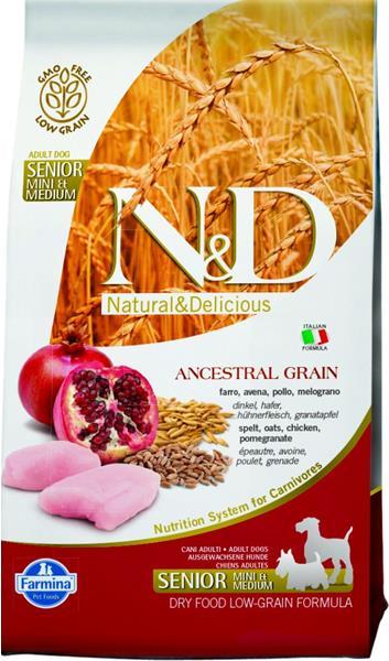N&D dog AG Senior mini chicken&pomegranate 2,5 kg